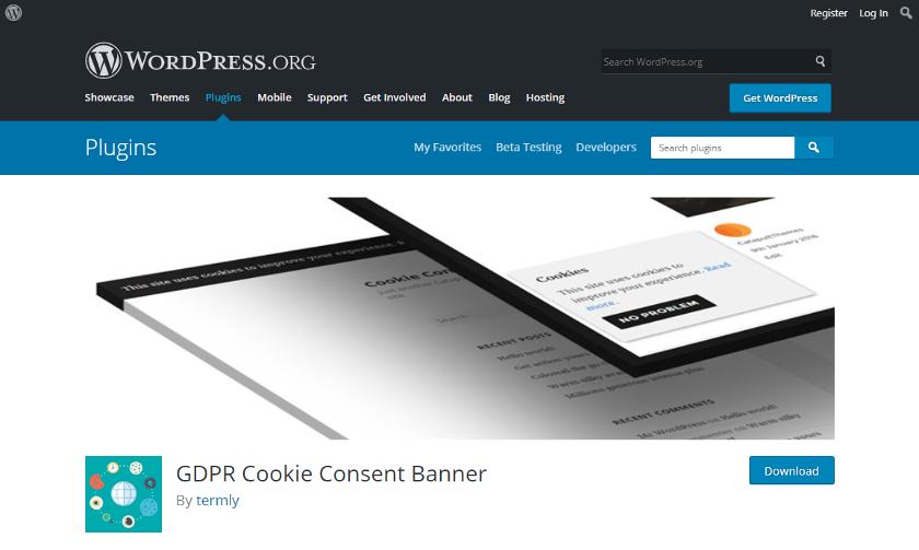 Abbildung: Das Cookie Consent Plugin für WordPress blendet den Cookie-Hinweis optisch ansprechend ein