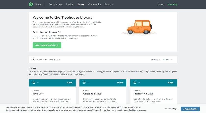 Abbildung: Auf teamtreehouse.com finden Sie nützliche Java-Tutorials mit Übungen.