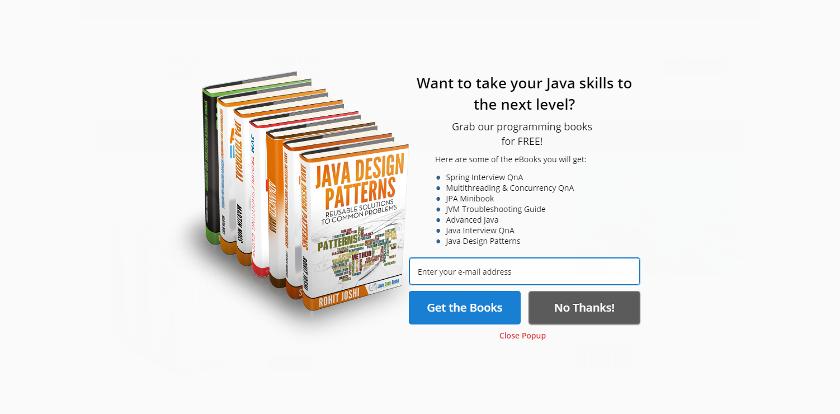 Abbildung: Java Code Geeks bietet Java Tutorials, Code-Beispiele und eBooks zum Download an