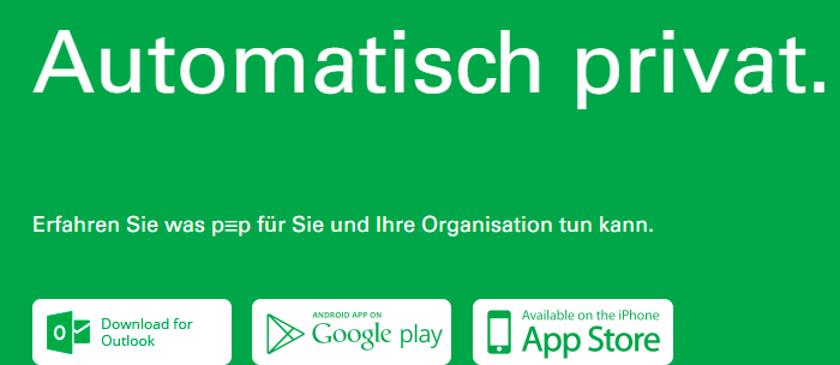 Abbildung 3: Das Tool PEP verschlüsselt E-Mails und ist für Windows, Android und iOS erhältlich