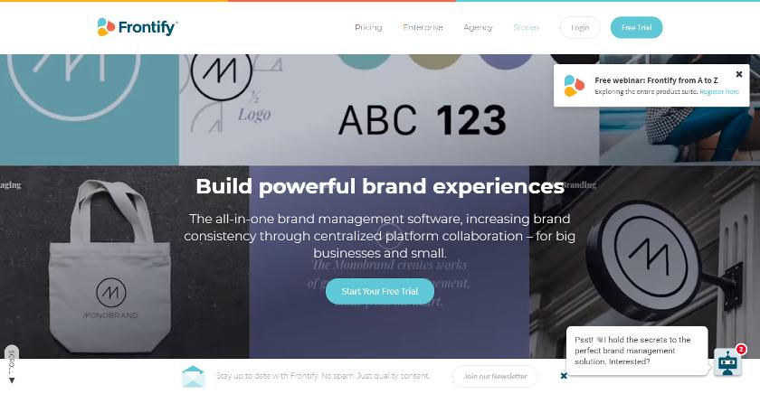 Abbildung - Frontify dient dem Brand Management.