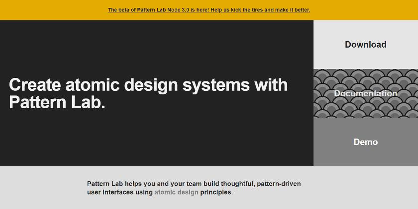 Abbildung - • Pattern Lab ist ein Design-System-Builder