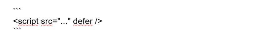 Abbildung - Inline JavaScript ist immer blockierend