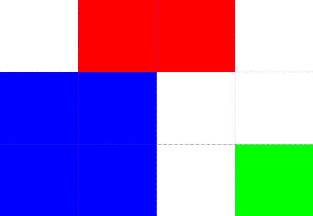 Abbildung - Positionierung der Kind-Elemente im Raster