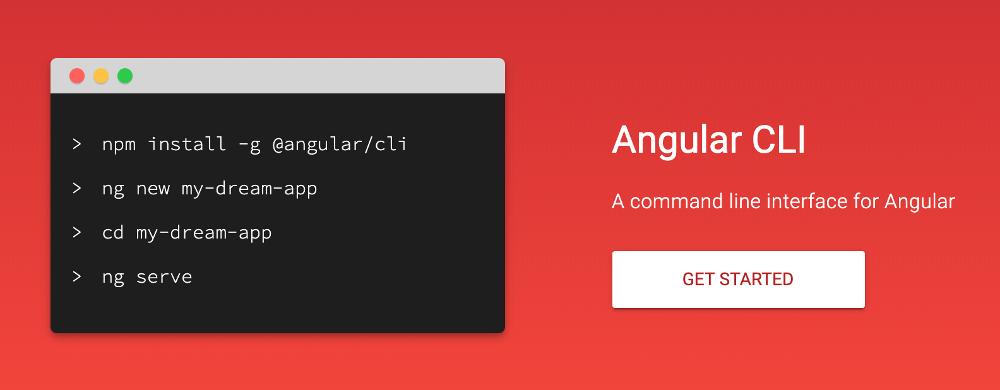 Abbildung - Die Angular CLI Webseite (Quelle: https://cli.angular.io/)