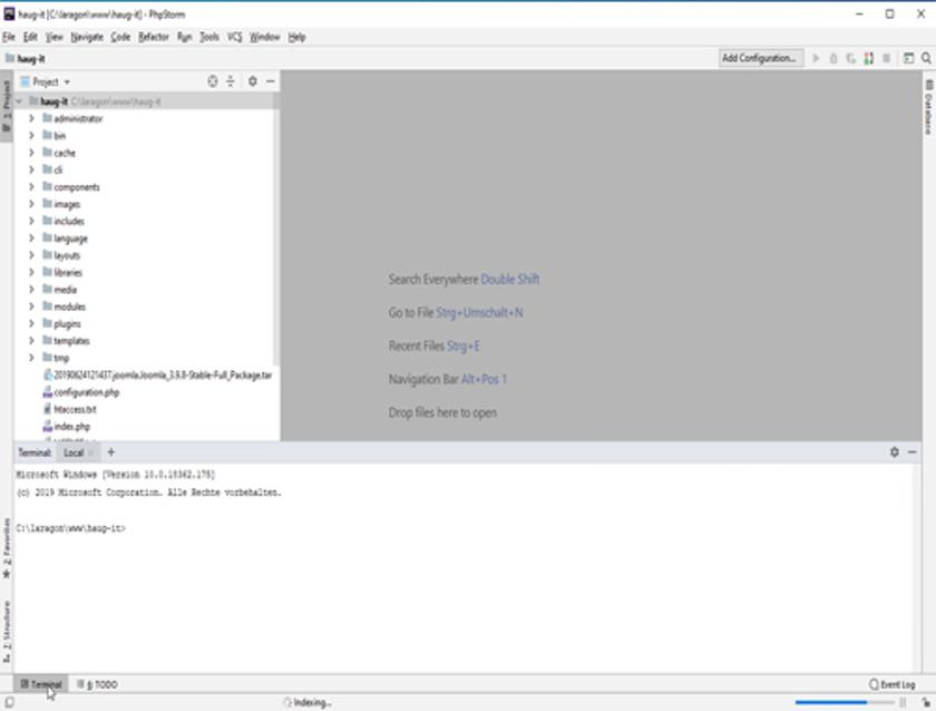 Abbildung 20 - Projekt - Indexierung