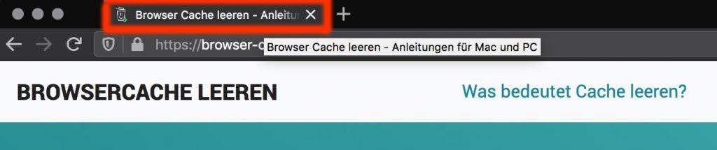 Abbildung - Browser-Titel im Browser