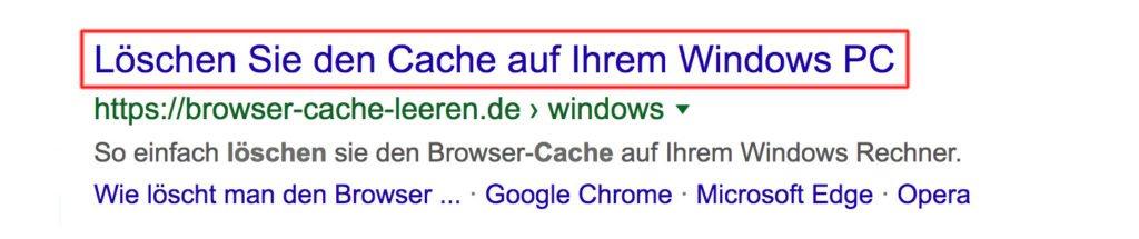 Abbildung - Serp-Browser-Titel