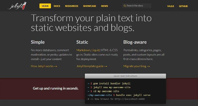 Abbildung - Static-Website-Generatoren - Beispiel Jekyll