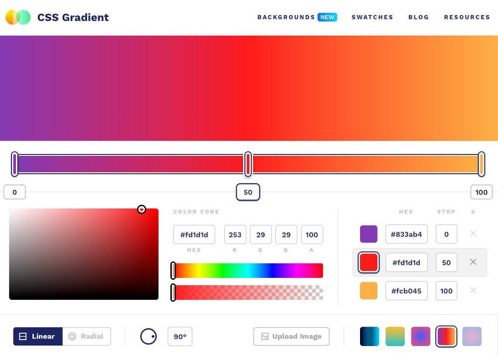 Abbildung5 - CSS-Gradient - Farbtools