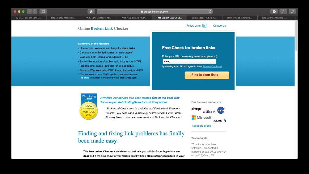 Abbildung - Online Broken Link Checker