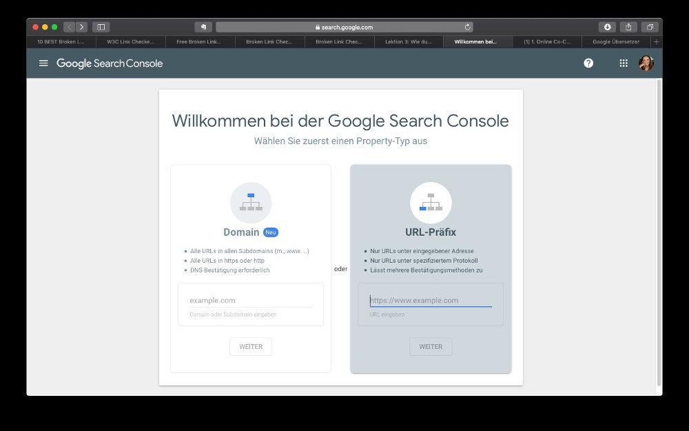 Abbildung - Google Search Console