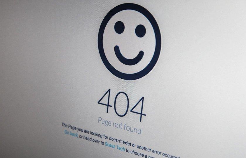 Abbildung - Fehlermeldung 404 - Page not found