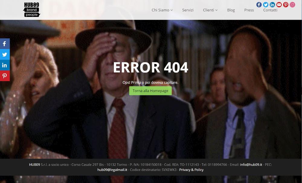 Abbildung_-_Die kreativsten 404-Fehlerseiten – Beispiel Werbeagentur Hub09