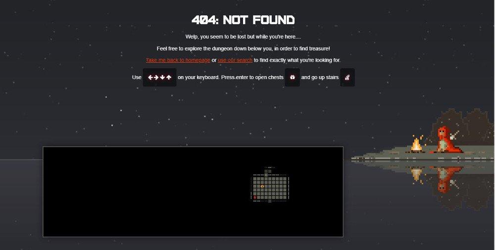 Abbildung_-_Die kreativsten 404-Fehlerseiten Beispiel Mini-Game