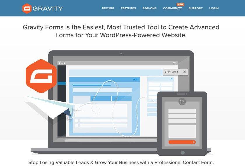 Abbildung - WordPress-Plugin - Gravity Forms