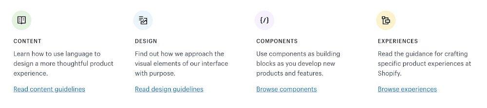Abbildung - Kapitel im Design System »Polaris« von Shopify