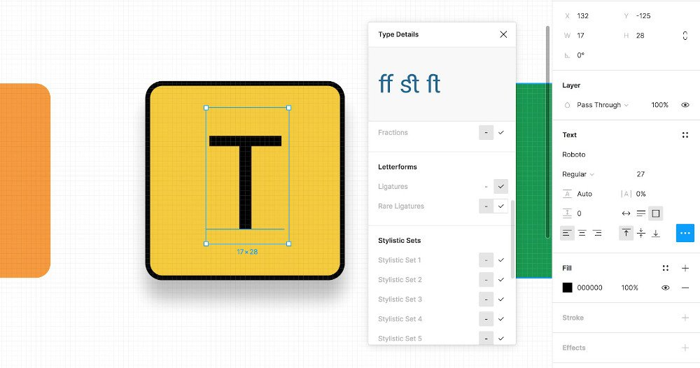 Abbildung - Typografie-Einstellungen in Figma