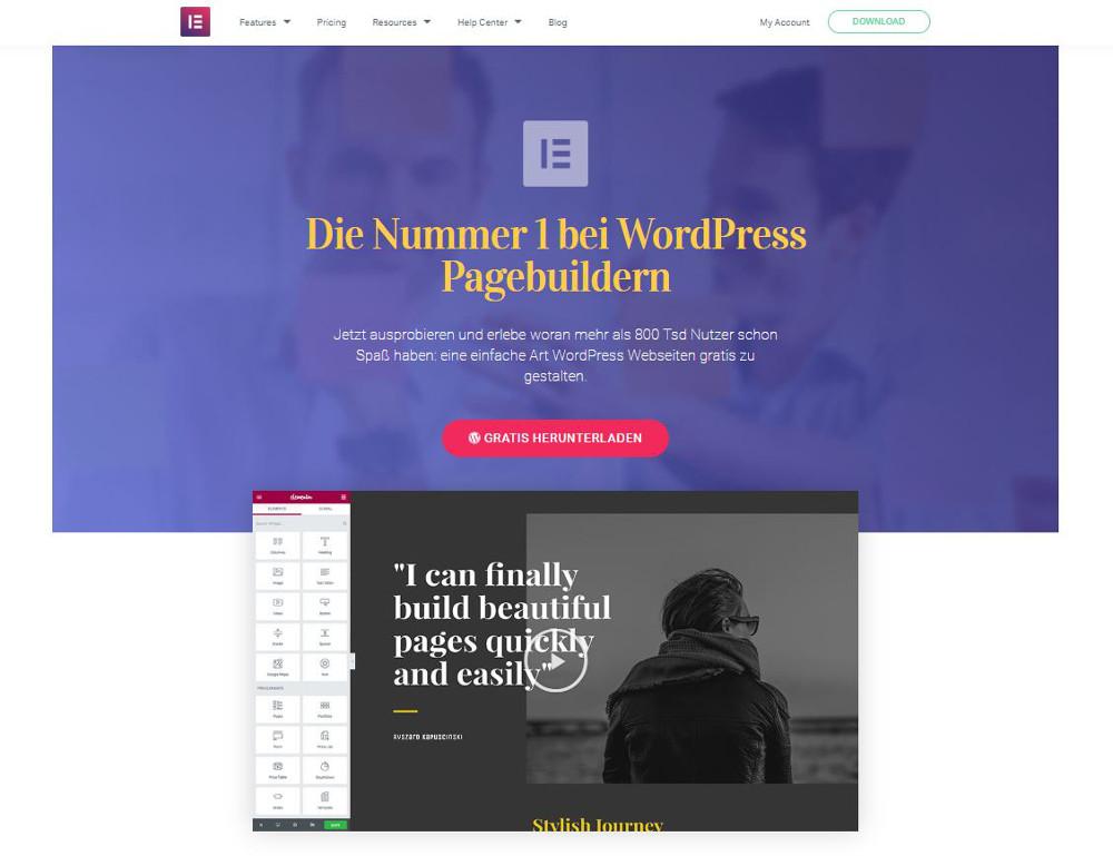 Abbildung – Elementor – der vielseitige Editor inklusive Theme-Builder