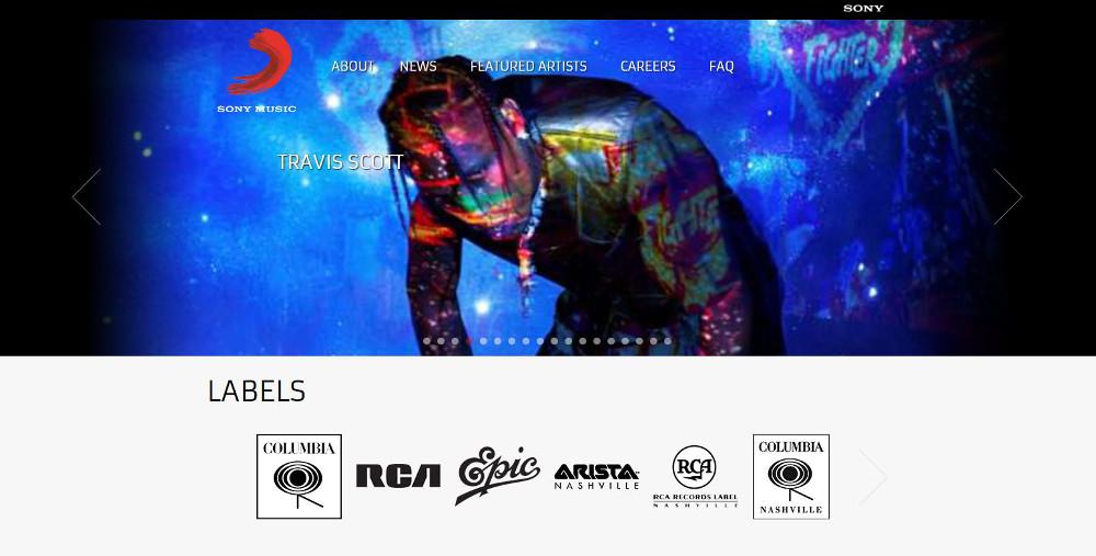 Abbildung_-_ Sony Music setzt auf WordPress