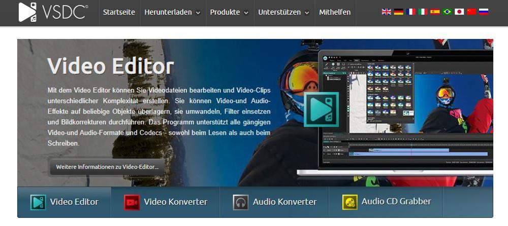 Abbildung - Übersicht Videobearbeitunsgprogramme - VSDC Free Video Editor: Beste Lösung für Bildschirmvideos