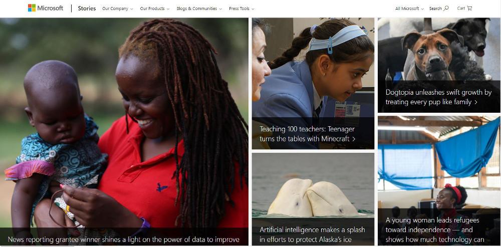 Abbildung_-_Wordpress nutzen - Beispiel Webseite Microsoft News