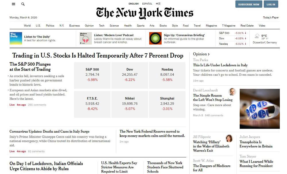 Abbildung_-_Wordpress nutzen - Beispiel New York Times