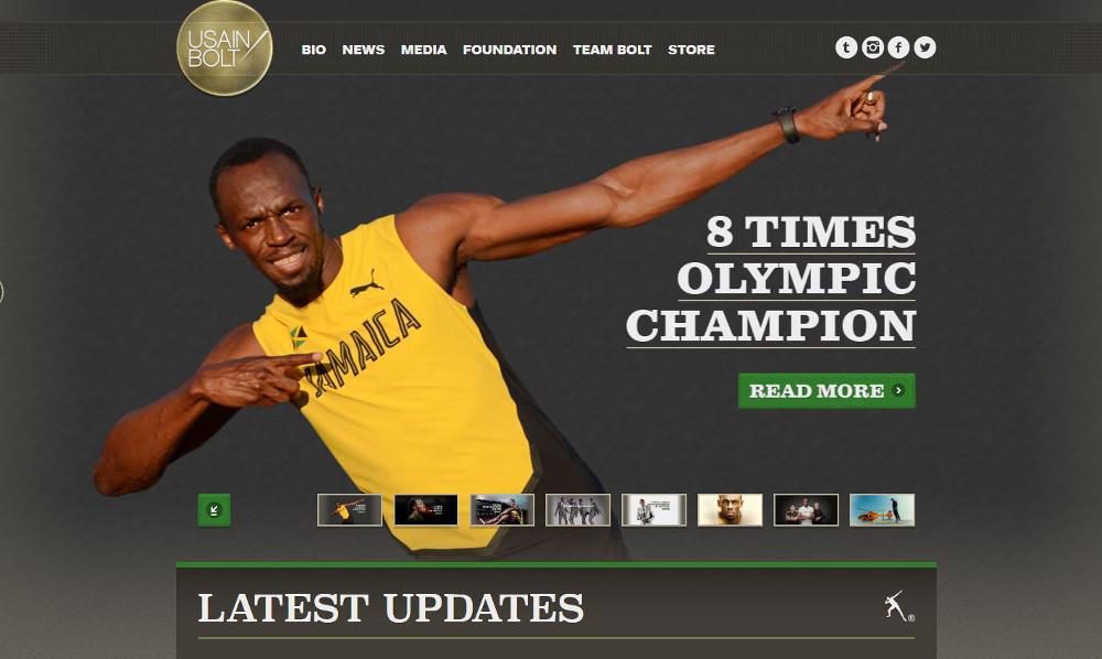Abbildung_-_WordPress nutzen Beispiel die Webseite von Usain Bolt