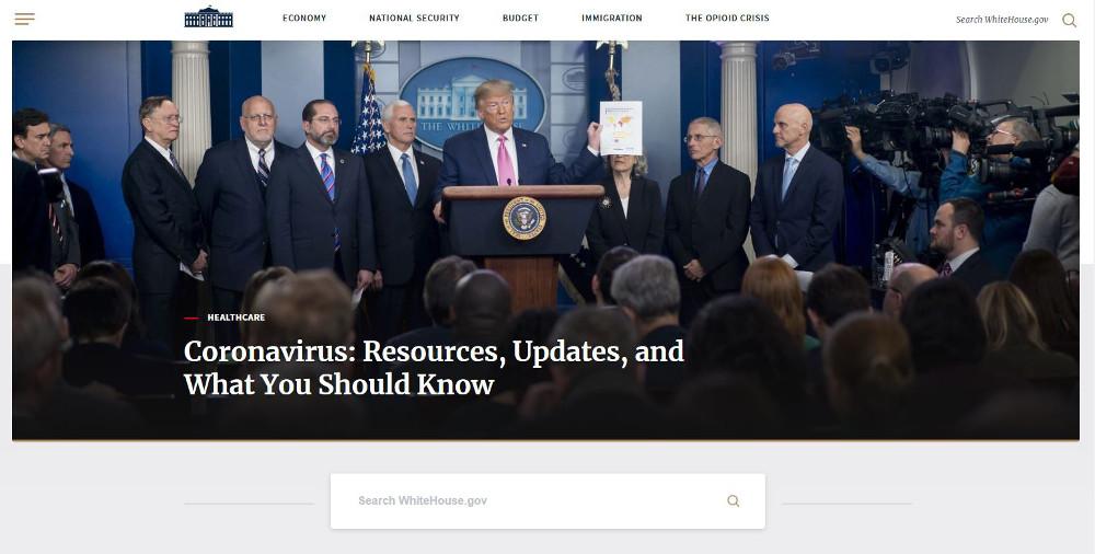 Abbildung_-_WordPress nutzen Beispiel White House