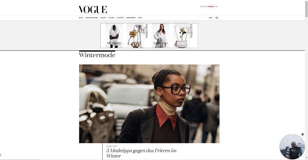 Abbildung_-_Wordpress nutzen - Beispiel Webseite Vogue