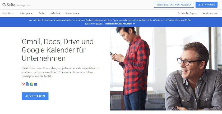 Abbildung - Mit der G Suite arbeiten Sie im Browser und speichern Daten online in der Cloud