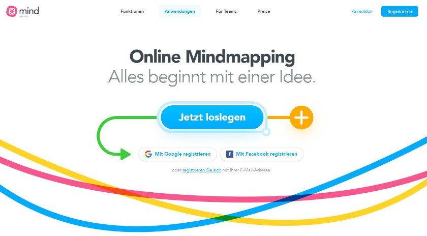 Abbildung - MindMeister eignet sich für Notizen, Brainstorming und die Projektplanung