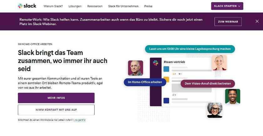 Abbildung - Mit Slack kommunizieren Teams effektiv online