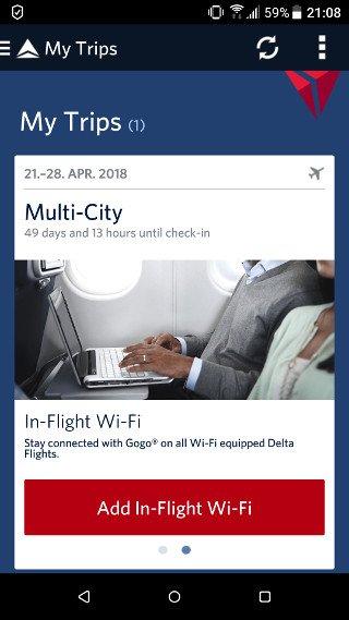 Abbildung - Startscreen der Delta-App auf iOS und Android 2