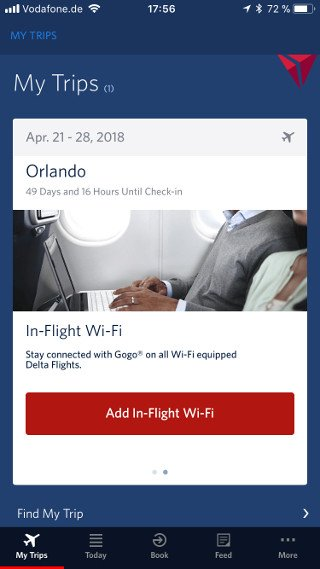 Abbildung - Startscreen der Delta-App auf iOS und Android 1