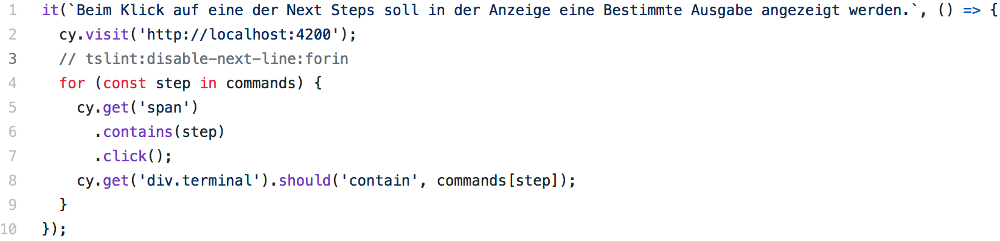 Abbildung - Angular-Testing - komplette it()