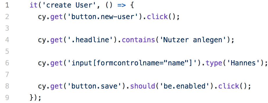 Abbildung - Angular-Testing Beispiel