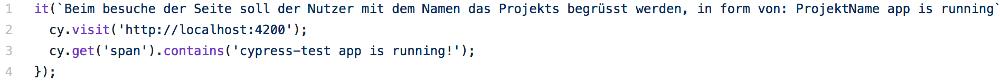 Abbildung - Angular-Testing cypress-test app is running!