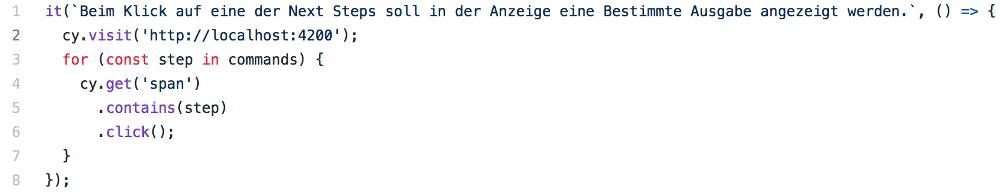 Abbildung - Angular-Testing - in jeder Iteration einen Test ausführen