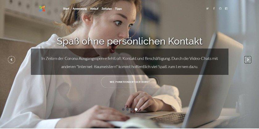 Abbildung - Website Kids4opensource - Das Programm