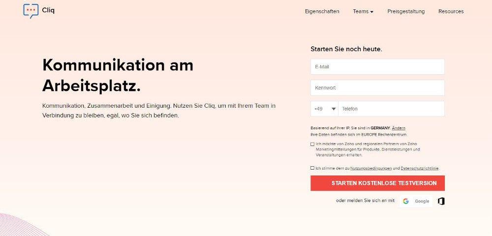 Abbildung: Zoho Cliq bietet praktische Funktionen zum kleinen Preis