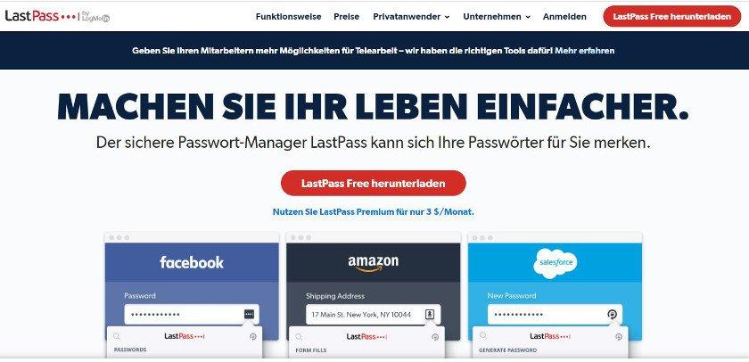Abbildung - Passwort-Manager LastPass