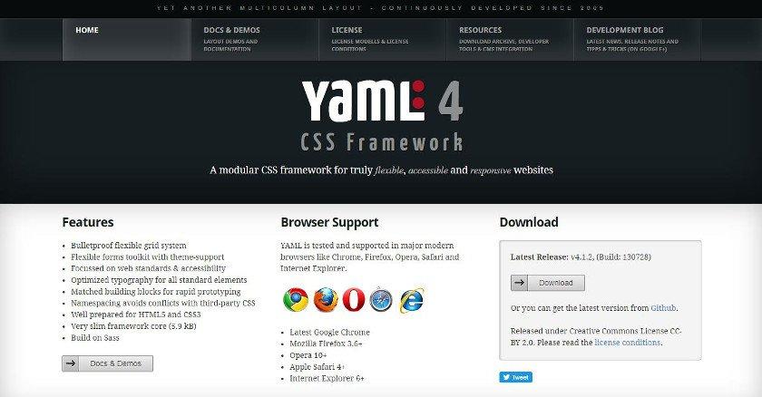Abbildung - Das CSS-Framework YAML in der Version 4