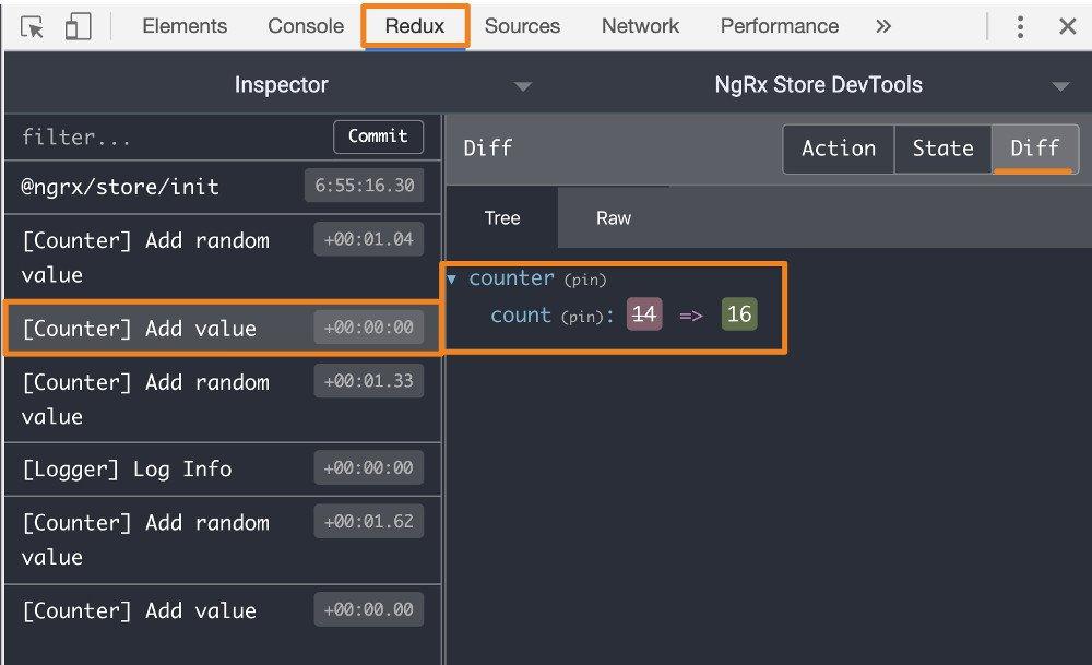 Abbildung - Redux DevTools - Übersicht