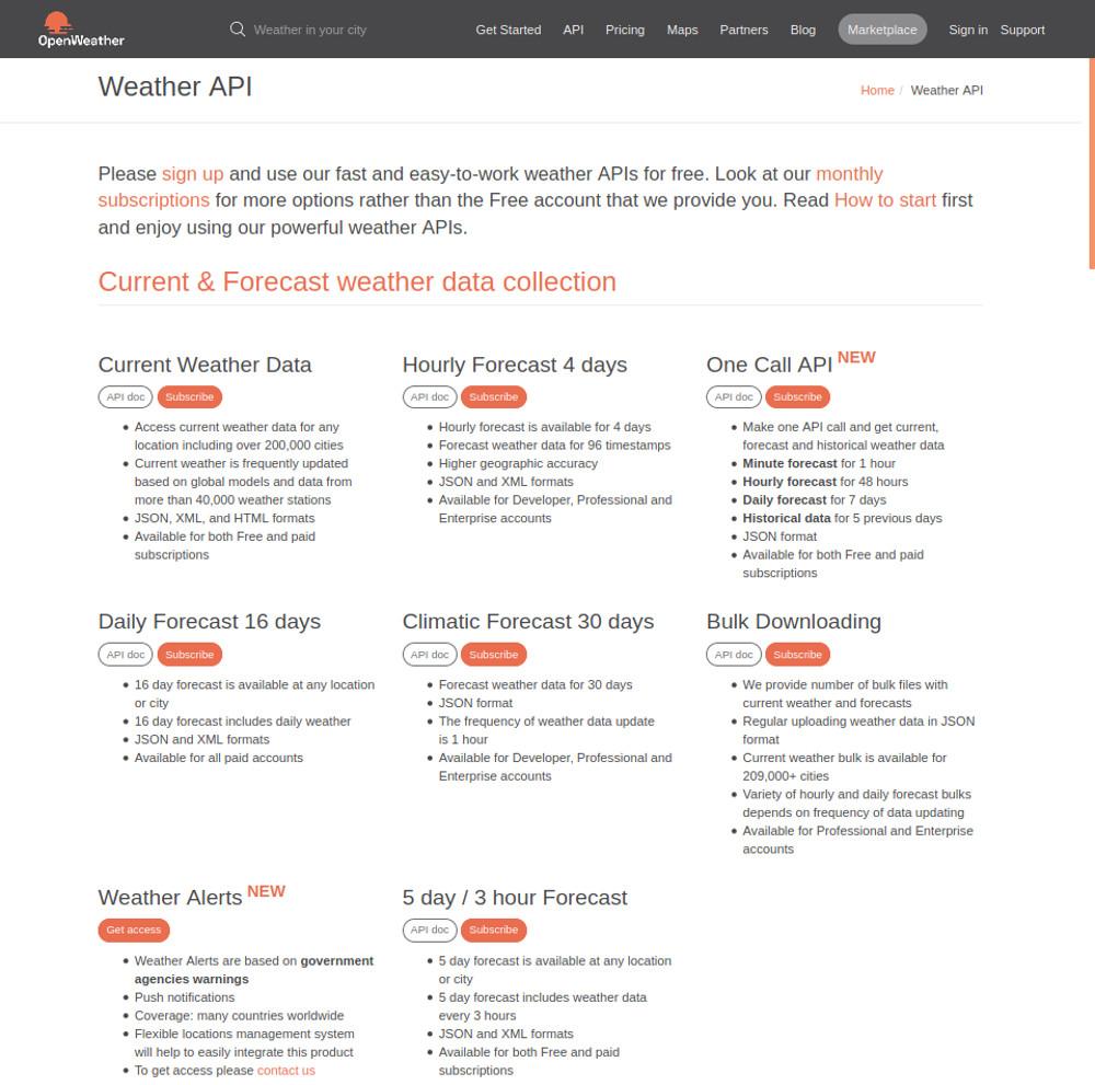 Abbildung Nützliche Public APIs im Überblick - Die OpenWeather API