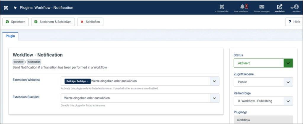 Abbildung - Die Workflow-Plugins