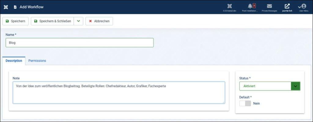 """Abbildung - Workflow """"Blog"""""""