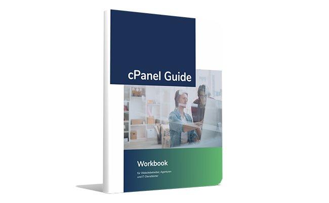 Abbildung – Der cPanel-Guide von Host Europe zum kostenlosen Download
