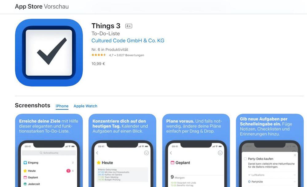 Abbildung_-_Die besten Erinnerungs-Apps für iOS - Things3