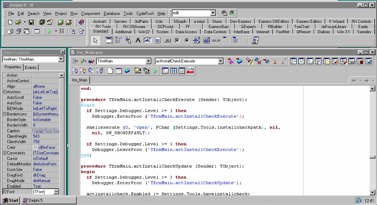 Abbildung - Docker im Entwickleralltag - Eine virtuelle Maschine mit einer archivierten Entwicklungsumgebung aus dem Jahr 2000: Windows NT4 und Borland Delphi 5